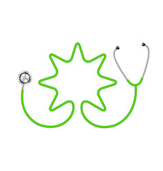 Stethoscope in shape of star in green design vector
