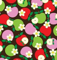 Tossed apples vector