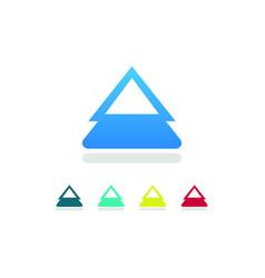 Triangle arow up logo vector