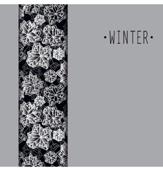 Winter snowflakes design vector image vector image