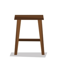 Wooden backless stool vector image vector image