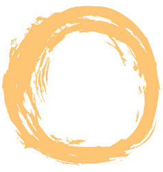 Yellow brushstroke circular shape vector