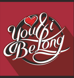 you amp i be long 3 vector image