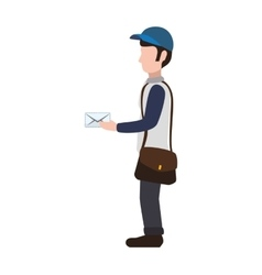 Postman envelope delivery shipping icon vector