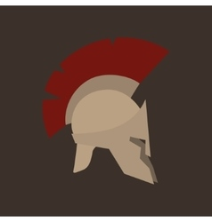 Roman helmet isolated vector