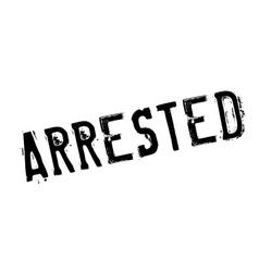 Arrested rubber stamp vector
