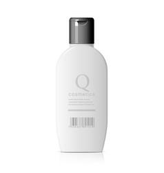 Realistic cosmetic bottle vector