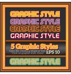 Set of various graphic styles for decoration vector