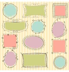 Cute doodle frames vector image