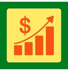 Sales growth icon vector