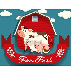 Farm animals living on farm vector image