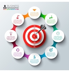 Infographic design template with target vector