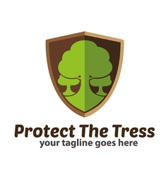 Protect the trees logo icon vector