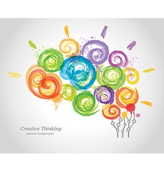 Creative human brain in the work vector