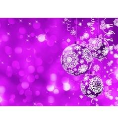Elegant christmas bauble card vector