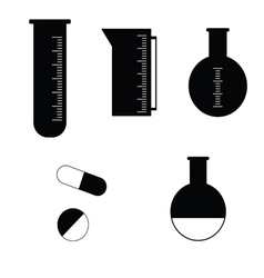 Pharmacy tubes icon vector