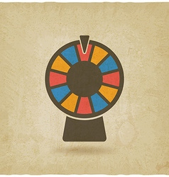 Wheel of fortune old background vector