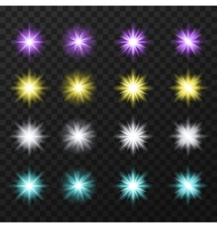 Colorful stars set vector