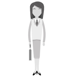 Grey business woman icon vector