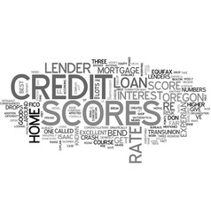A crash course on credit scores text word cloud vector