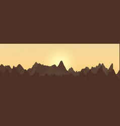 Abstract landscape design with mountains and vector