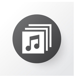 Albums icon symbol premium quality isolated music vector