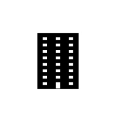 Apartment icon flat vector