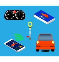 Automotive icons set vector