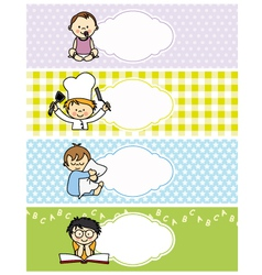 Boy stickers vector