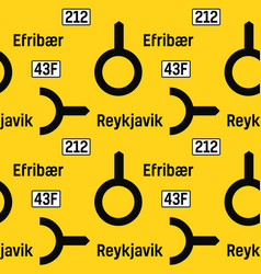 Direction yellow road sign pattern vector