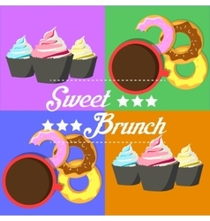 Donuts and muffins vector image