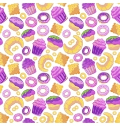 Doodle BakeryCakes and dessertpastries vector image vector image