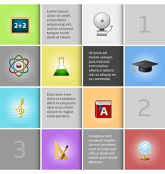 Education infographic elements vector