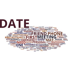 First date hints for success text background word vector