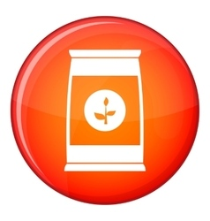 Flower seeds in package icon flat style vector