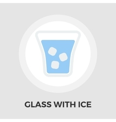 Glass whit ice Icon vector image