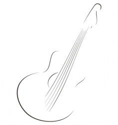 Guitar sketch vector