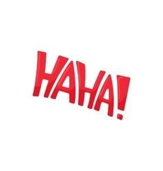 Haha icon in cartoon style vector