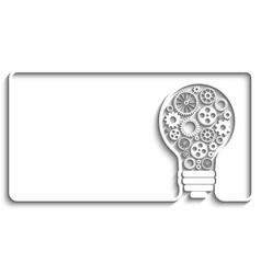 light bulb gears vector image vector image