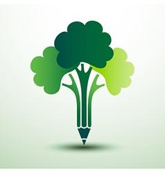 Pencil tree vector