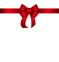 Red Gift Ribbon vector image vector image