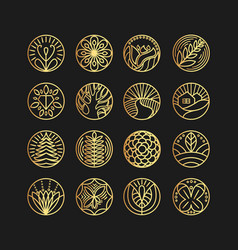 set of logo design templates and emblems in vector image