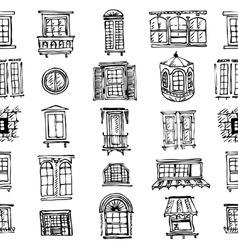 Set of various window shapes vector