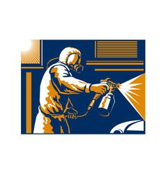 Spray Painter Painting Spraying Retro vector image vector image