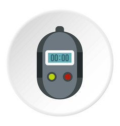 Stopwatch icon circle vector