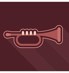 trumpet icon vector image vector image