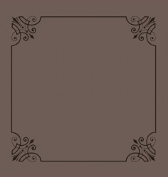 vintage ornamental frame series vector image