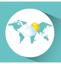 weather concept forecast cloud sun icon design vector image