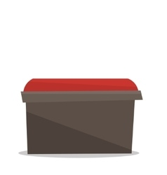 Bedside red chair vector image
