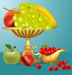 Fruits still life vector